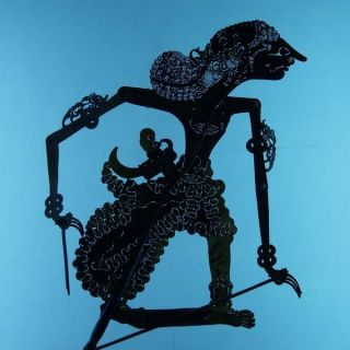 Wayang Kulit Indonesie Schattenspielfigur Marionette Shadow Puppet Gift Cx73 photo