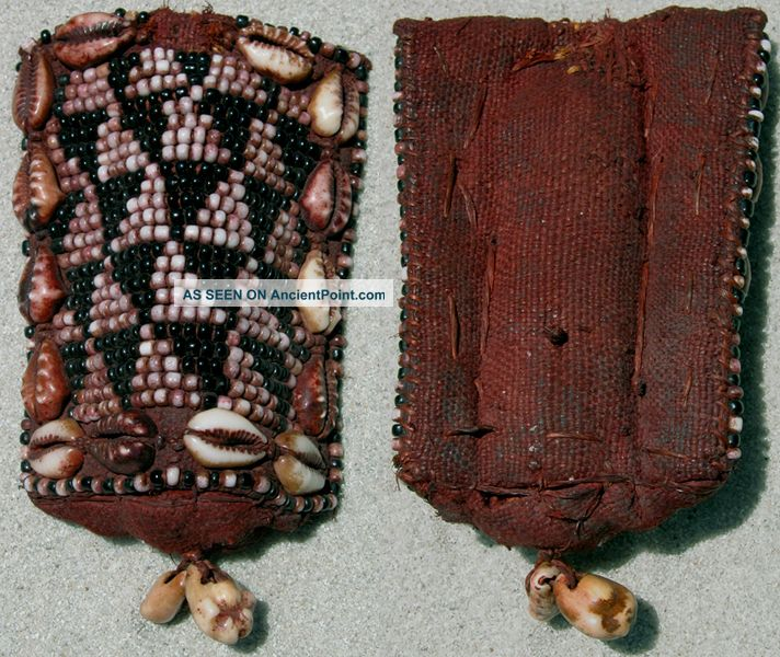An Old Beaded Belt Pendant With Cowries Kuba Congo Other photo