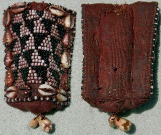 An Old Beaded Belt Pendant With Cowries Kuba Congo photo