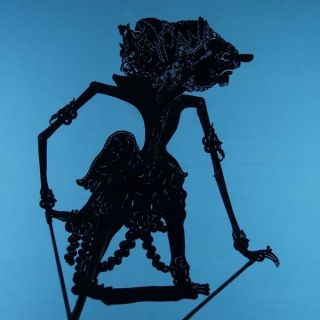 Wayang Kulit Indonesian Schattenspielfigur Marionette Shadow Puppet Gift Cw98 photo