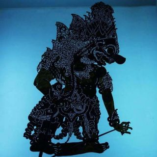 Wayang Kulit Indonesien Schattenspielfigur Marionette Shadow Puppet Gift Da76 photo