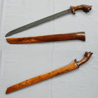 Old Sword Pedang Lameng Mataram Sultan Agung Batu Lapak Silat Keris Golok Ri75 photo