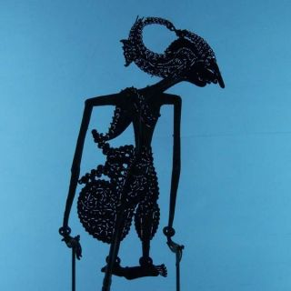 Wayang Kulit Indonesie Schattenspielfigur Marionette Shadow Puppet Gift Cx64 photo