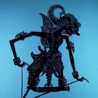 Wayang Kulit Indonesien Schattenspielfigur Marionette Shadow Puppet Gift Da22 photo