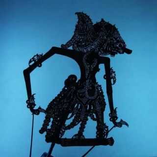 Wayang Kulit Indonesien Schattenspielfigur Marionette Shadow Puppet Gift Da81 photo
