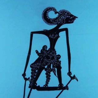 Small Wayang Kulit Javanese Schattenspielfigur Marionette Shadow Puppet Da39 photo