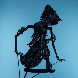 Wayang Kulit Javanese Jawa Schattenspielfigur Marionette Shadow Puppet Gift Cw75 photo