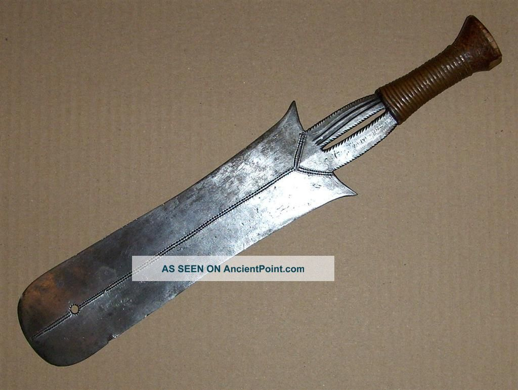 Congo Old African Knife Ancien Couteau Afrique Yakoma Afrika Kongo Africa Zwaard Other photo