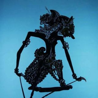 Wayang Kulit Indonesie Schattenspielfigur Marionette Shadow Puppet Gift Cw63 photo