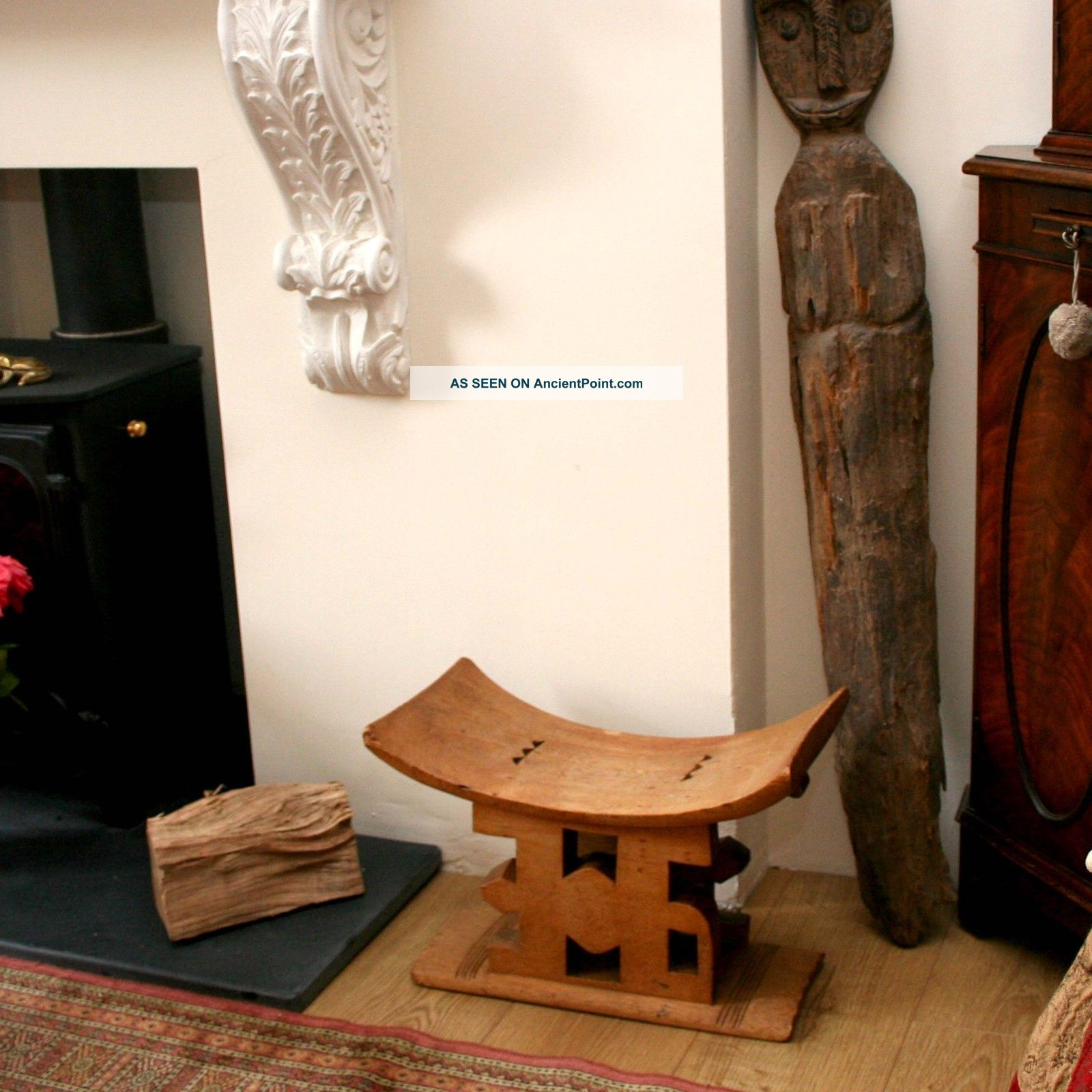 African Tribal Ashanti Stool Or Seat Other photo