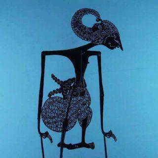 Wayang Kulit Javanese Jawa Schattenspielfigur Marionette Shadow Puppet Gift Da35 photo