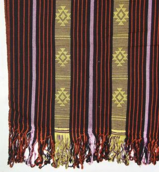 Timorese Atoni Woven Fabric Textile Cloth Ikat Art Bs71 photo