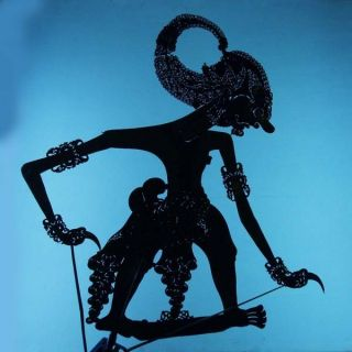 Wayang Kulit Javanese Jawa Schattenspielfigur Marionette Shadow Puppet Gift Cx14 photo