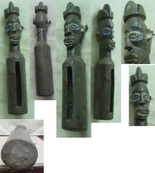African Art Yaka Slit Drum Statue 18