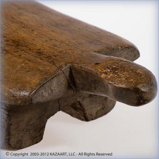Old And Tribally Lobi Anthropomorphic Wood Headrest Burkina Faso photo