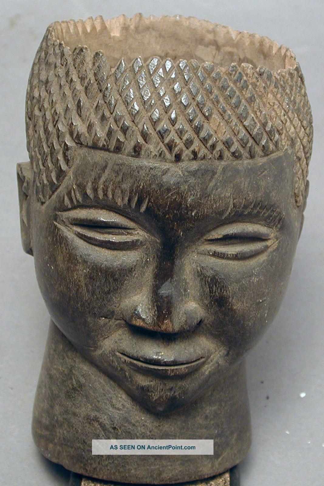 African Kuba Wood Palmwine Cup Container Handmade Figure Drcongo Ethnix Other photo