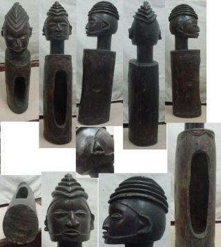 African Art Yaka Slit Drum Statue 22