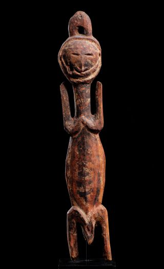 Powerful Old Female Figure With Janus Head From Yanggoru Area,  Papua New Guinea photo