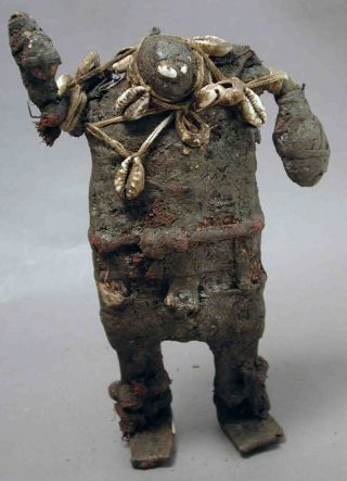 Ancestral Metal Fetish Shrine Figure African Statue Cameroon Ethnix photo