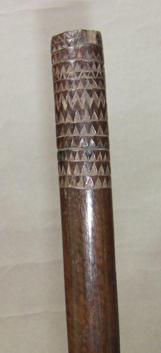 19th Century Fiji Tonga Hard Wood Pole War Club photo