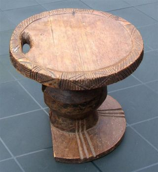Congo Old African Stool Ancien Tabouret Mangbetu D ' Afrique Afrika Kongo Uele photo
