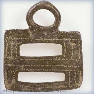 Old Bobo Bronze Horse Stirrup Adornment Pendant Burkina Faso photo