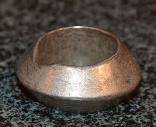 Antique Ethiopian Brass Wedding Ring - Size 6 1/2 photo