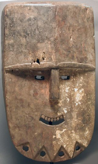 African Ceremonial Mbete Mbamba Initiation Funeral Wooden Mask Gabon Ethnix photo