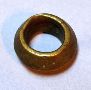 Antique Ethiopian Brass Wedding Ring Size 4 1/2 photo