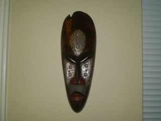 Hand Carved Ghana Mask - African Art photo