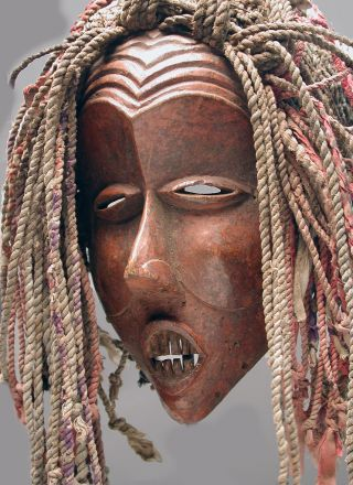 African Powerful Luena Luvale Dance Mask Ceremonial Zambia Ethnix photo