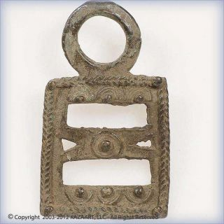 Old Mossi Bronze Horse Stirrup Adornment Pendant Burkina Faso photo
