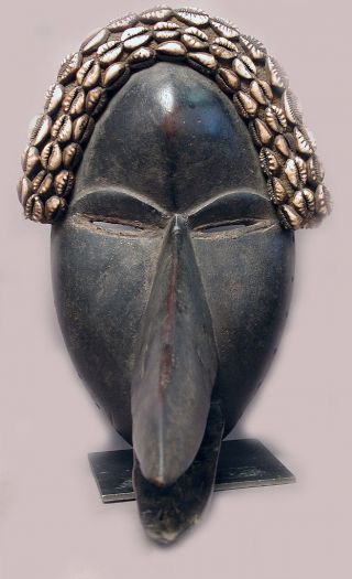 African Wood Corie Shell Dan Animal Nose Beak Mask Cote I ' Voire Liberia Ethnix photo