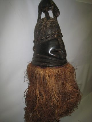 Mende Bundu Helmet Mask - Female Initiation Sierra Leone photo
