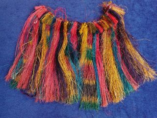 Old Tribal Colourful Fibre Grass Skirt Papua New Guinea photo