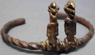 Jewelry African Bronze Twin Divination Bracelet Burkina Faso Ethnix photo