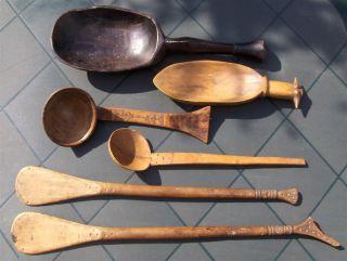 Congo Old African Spoons Africa Lwena Dan Somalia Lepel Afrika Afrique Lepels photo