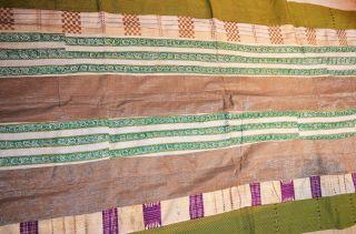 African Aso Oke Cloth Fabric Hand Made By Tribal Yoruba People - Nigeria photo