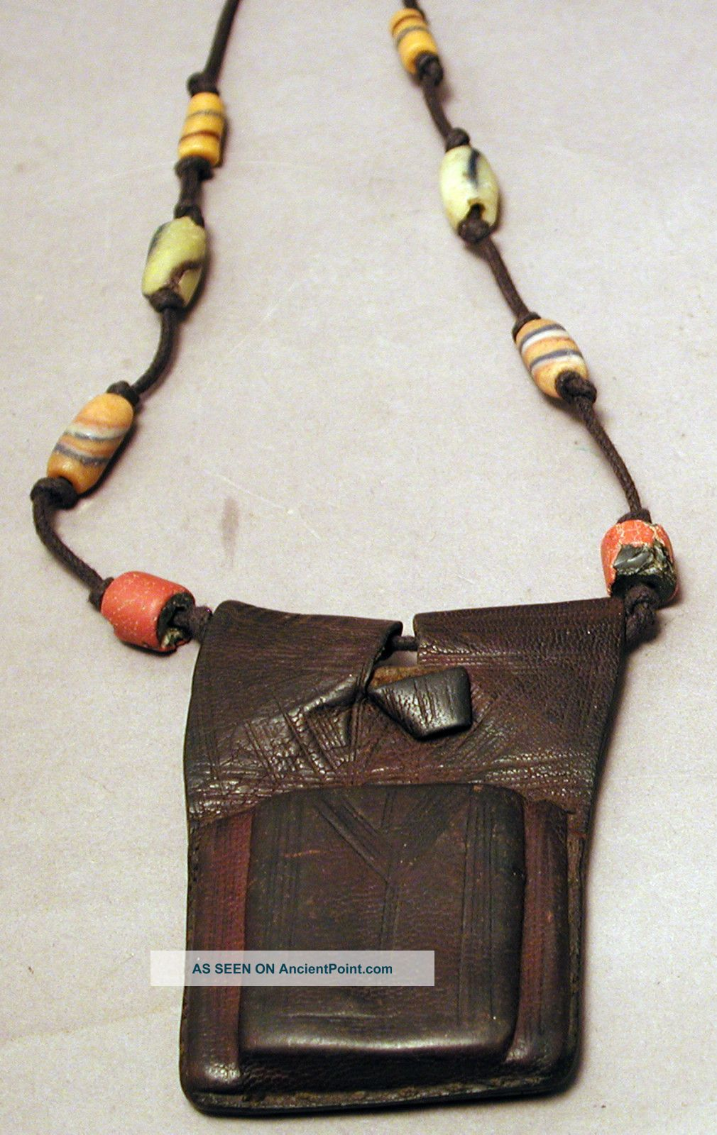 Jewelry African Grisgris Tuareg Leather Prayer Beaded Necklace Amulet Ethnix Other photo