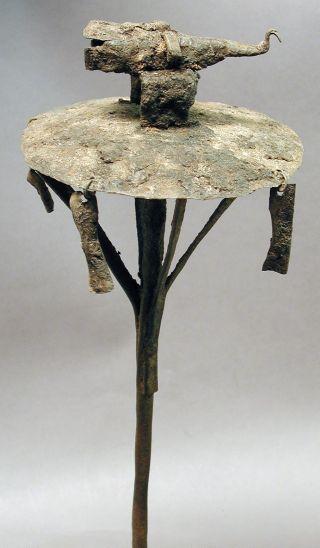 Fon African Voodo Iron Metal Bird Shrine Figure Altar Ancestor Asen Benin Ethnix photo