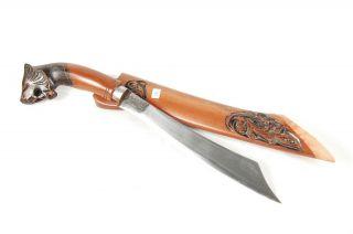 New Badik Pattimura Lion Knife Java Keris Kriss Kris Jk12 photo