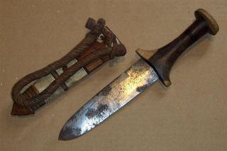 Sudan Old African Knife Ancien Couteau D ' Afrique Bedja Afrika Africa Soedan Dolk photo