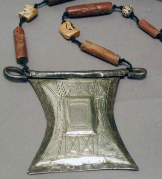 Jewelry Brass African Tuareg Trade Beads Necklace Prayer Box Amulet Niger Ethnix photo