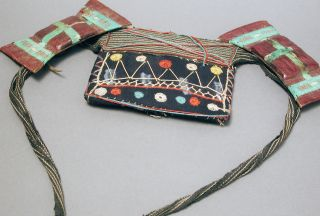 Belt Handmade Jewelry African Saharan Gris Gris Tuareg Leather Bag Niger Ethnix photo