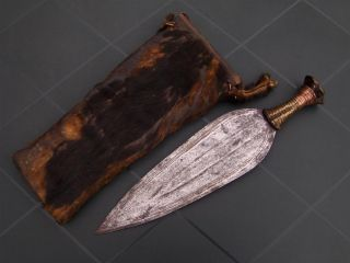 Congo Old African Knife Ancien Couteau D ' Afrique Ngala Afrika Africa Kongo Sword photo