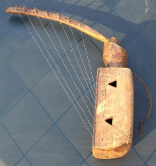 Congo Old African Harp Harpe Ancien Afrique Ngbaka photo