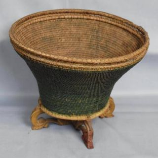 Rattan Basket Storage Ethnoghic Indonesie Pi84 photo
