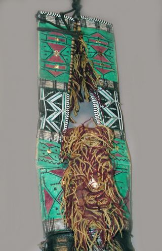 Decorative Jewelry African Saharan Tuareg Leather Purse Bag Purse Niger Ethnix photo