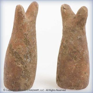 Ancient Excavated Terracotta Clay Pieds De Lit Astrales Artifacts Mali photo