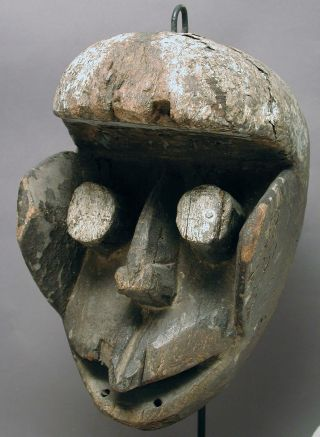 African Artifact Ceremonial Wooden Dan Guere We Fetish Mask Cote I ' Voire Ethnix photo